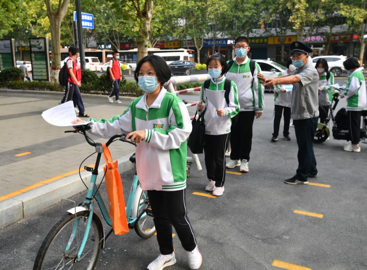 #郑州开学返校第一天#!9月16日郑州初三高三返校复课
